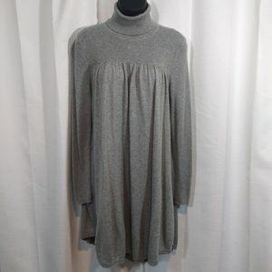 Victoria's Secret gray turtle neck tunic dress